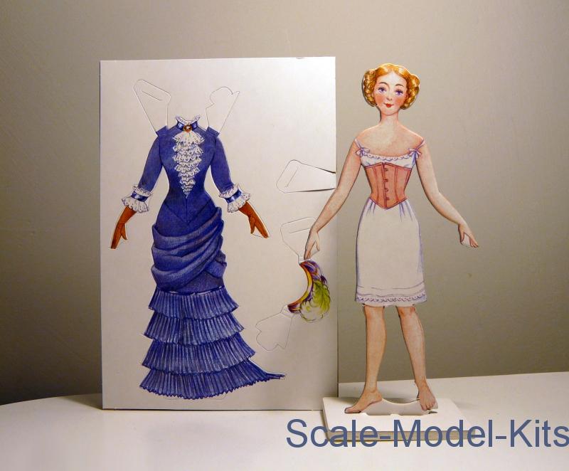 Платье из бумаги для игрушки