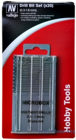 VLJ-T01001 Microbox drill set 0.3-1.6 mm (20 pcs)