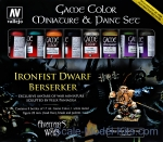 Paint Set Game Color: Ironfist Dwarf Berserker, 8 pcs + Metal Figure