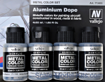 VLJ77603 Metal Color Set Aluminium Dope, 4 pcs