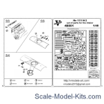 Vmodels48001 Photoetched set of details for He 111 H-3 interior set for (ICM model kit)