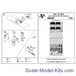 Vmodels48002 Photoetched set of details for He 111 H-3 exterior set for (ICM model kit)