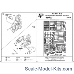 Vmodels48003 Photoetched set of details for He 111 H-3 wheel well set (ICM model kit)