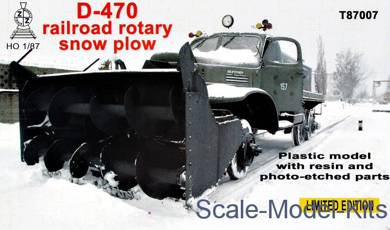 Railroad rotary snow plow D-470