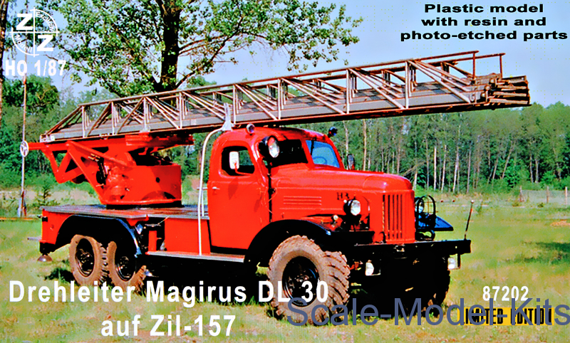 Aerial ladder Magirus DL30 on Zil-157